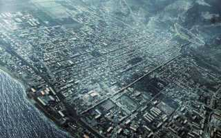 Панорама над городом Дербент