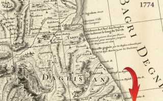 1774 Французско-турецкая карта