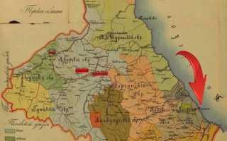 1900 Схематическая карта Дагестанской области