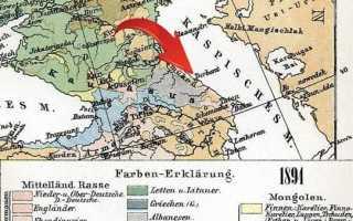 1894 Немецкая карта