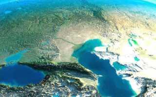 Кавказ из космоса Фото