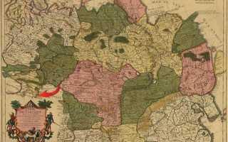 1706 Французская карта