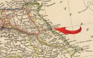 1832 Английская карта