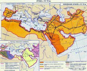 Арабский халифат, карта