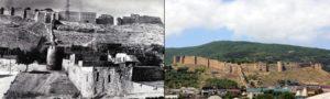 Вид на крепость со стороны городских магалов