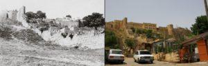 Вид на крепость со стороны городских магалов у подножия лестницы