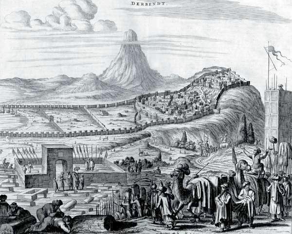 Дербент гравюра древнего Дербента