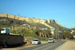Вид на крепость с федеральной трассы