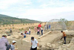 Подземный крестово-купольный храм раскопки