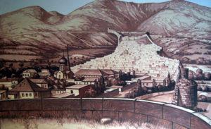 Вид на Дербентскую крепость со сторожевой башни