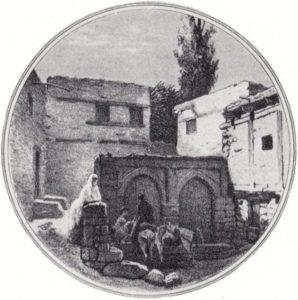 Фонтан Хан-булах. Рисунок 1849 г.