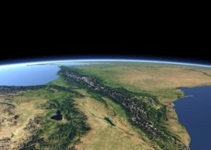 Кавказ из космоса