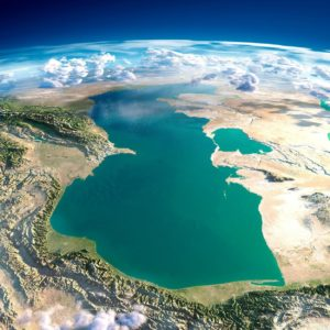 Кавказ фото из Космоса