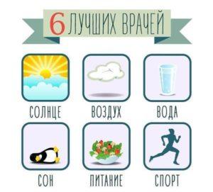 Лучшие врачи - солнце, воздух, вода, сон, питание и спорт