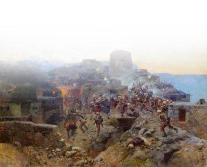 Штурм аула Ахульго, панорама