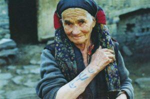 Дагестанская женская татуировка